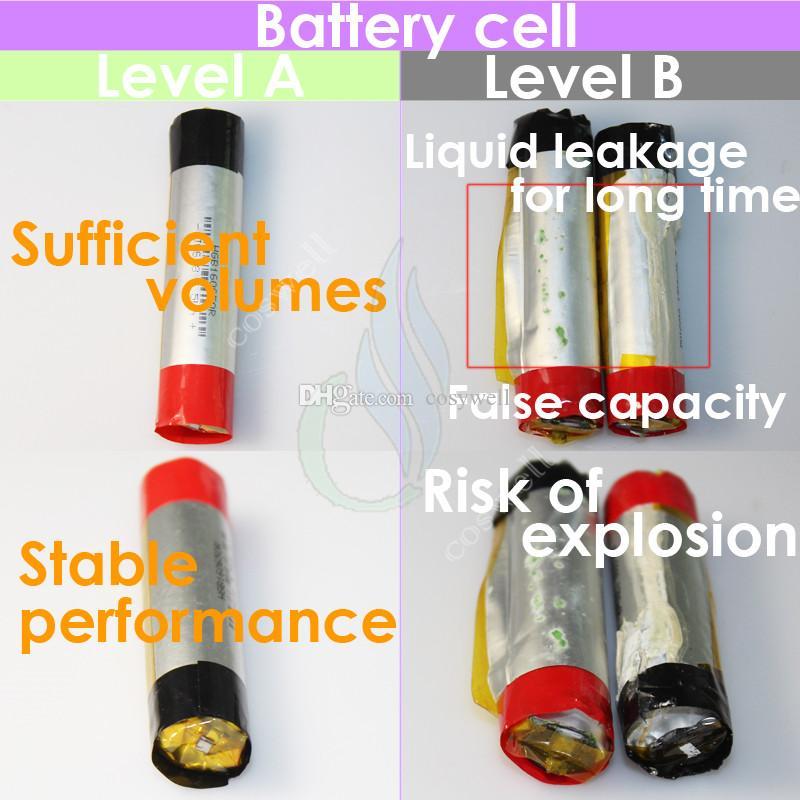 Top qualité Vision Spinner 2 1650mAh Ego torsion 3.3-4.8V II spinner tension vison variable de la batterie VV pour la cigarette électronique ego atomiseurs