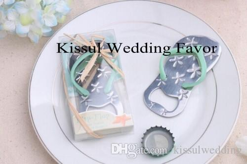 Beach Theme Wedding Gifts Flip Flop Bottle Opener Party Favors with Starfish Wedding favors Quality promise