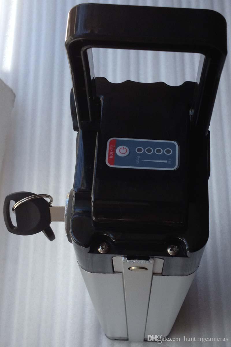 горячая продажа большой 48V 12Ah литий-ионный аккумулятор велосипед батареи для электрического велосипеда e-велосипед с зарядным устройством литиевые батареи тонкий алюминиевый корпус BMS чехол