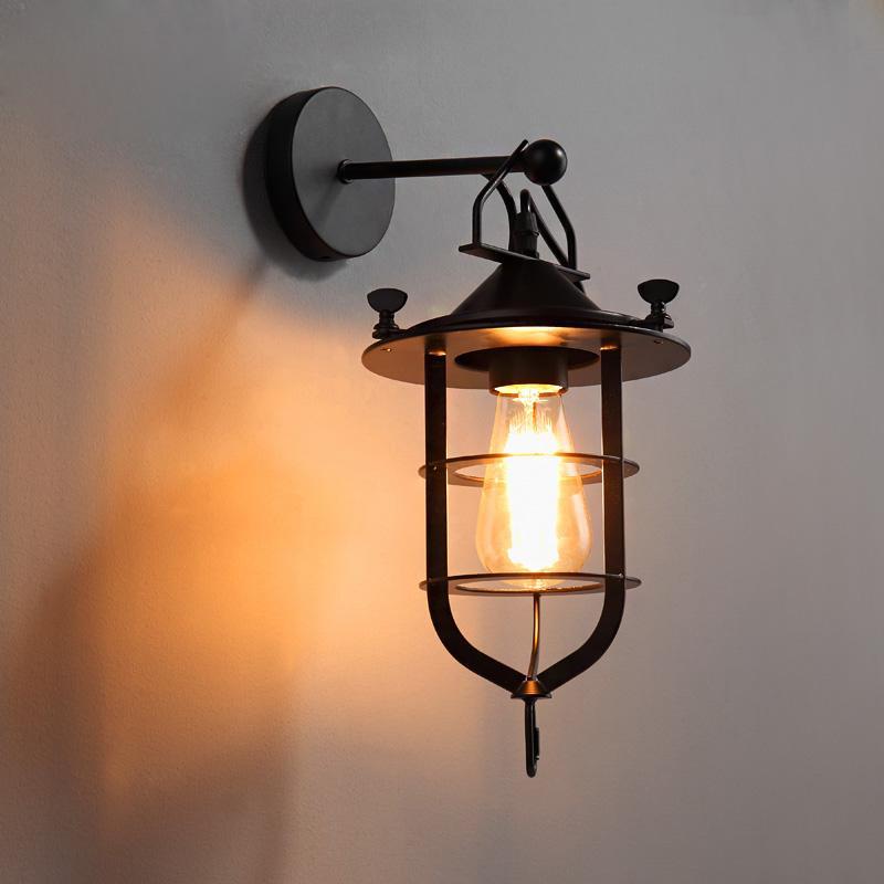 Best loft american village hallway wall lights industrial for Loft americain
