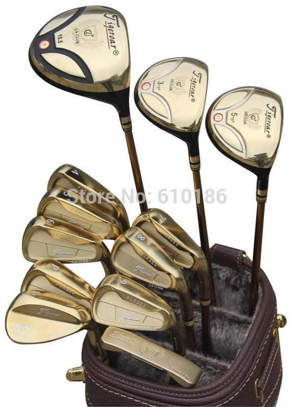 Original Tigeroar Gold Golf Set Men s Authoritarian Rod Sets Hot ... 6e1b4fc2ac2f