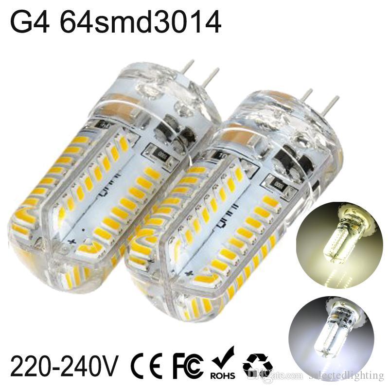 G9 G4 E14 3W 64 SMD led bulb light 3014 Warm White / Cool White LED Corn Lights AC 220V 110V