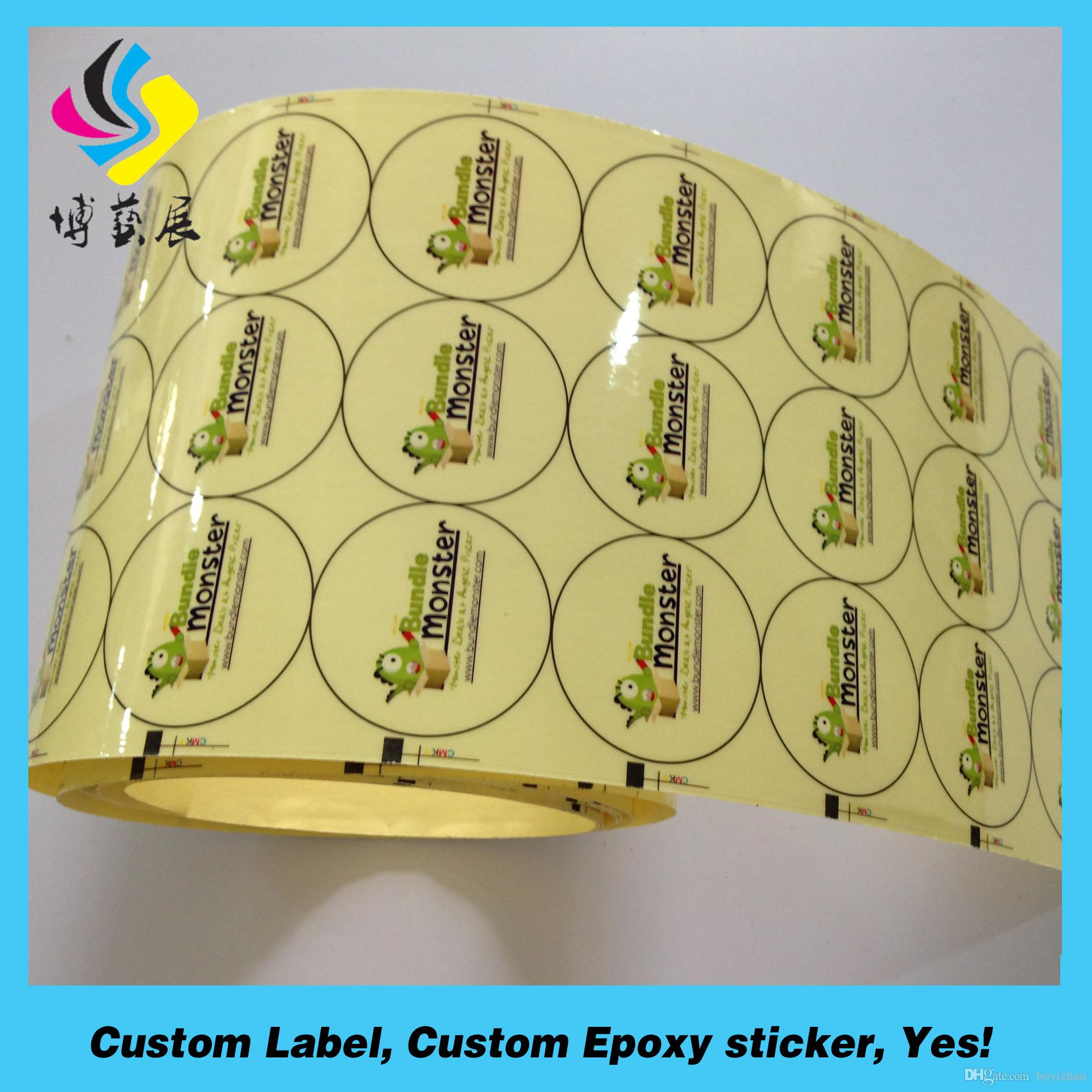 2018 Environmental Friendly Non Toxic Clear Custom Vinyl Stickers Labels  Printing Roll From Boyizhan, $0.04 | Dhgate.Com