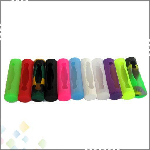 18650 Cubierta protectora de la batería Cubierta de silicona caso de goma suave colorido protector de la piel de 18650 DHL de la batería