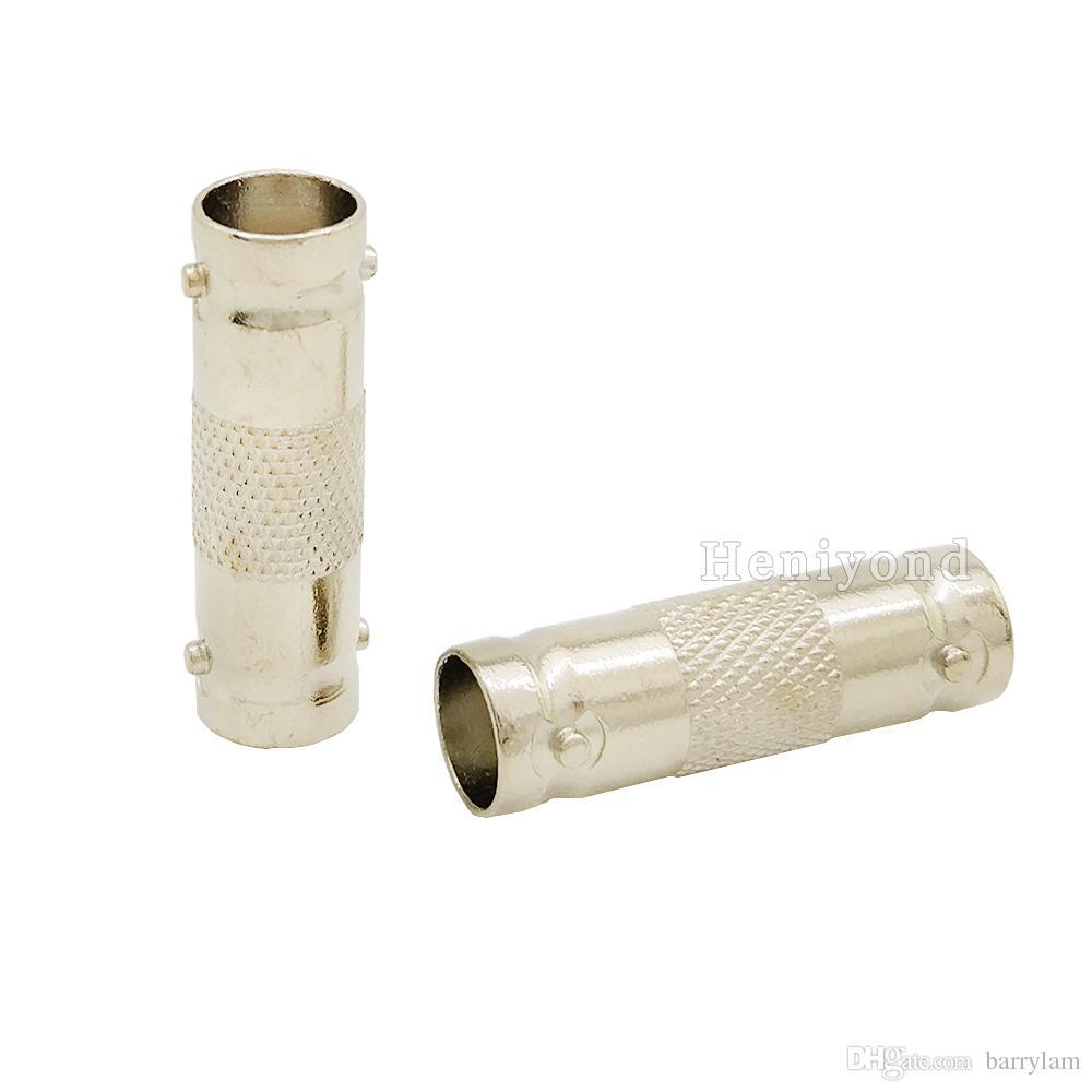 الشحن مجانا 50 قطع التوصيل bnc ذكر إلى bnc أنثى جاك محول اقناع موصل المقرنة التوصيل للكاميرا cctv