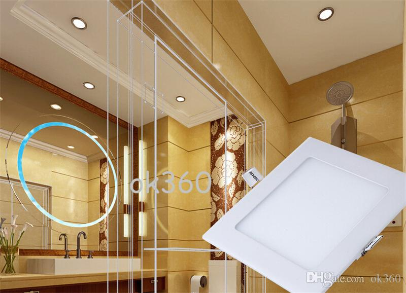Супер-тонкий Dimmable SMD2835 вело света панели 9W 12W 15W 18W 21W теплое/природа / холодная белая круглая / квадратная форма 110-240V Сид утопило CE Downlight