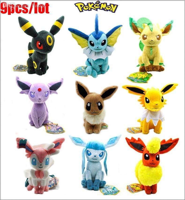 Wholesale Anime Umbreon Eevee Family Movies Tv Plush Toys Stuffed