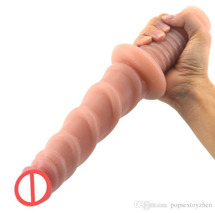 Screw handle dildo fake penis sex toys for women ribbed dick vagina masturbate anus massage anal dildo lesbian sex shop