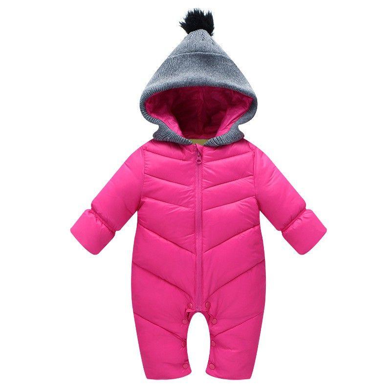 3c3ddd3f49cf 2019 70 110cm Fashion Winter Thickening Newborn Baby Rompers Girls ...