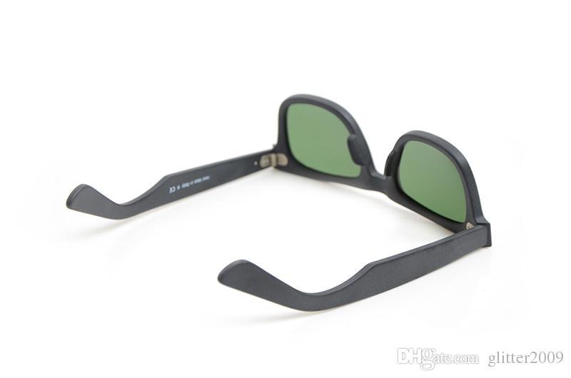 Nuevas gafas de sol en negro mate para hombre gafas de sol Lente de cristal gafas de sol Gafas de protección de anteojos de alta calidad para mujer 50/54 brillo