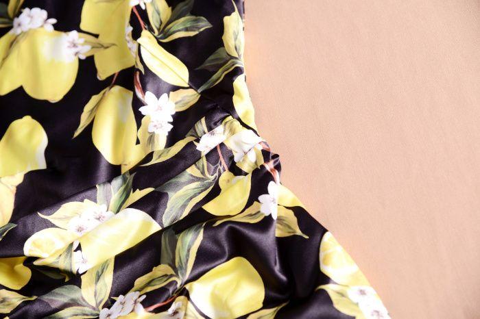 Moda Imprimir Mulheres Bainha Vestido Elegante Vestido Plissado 119777-2