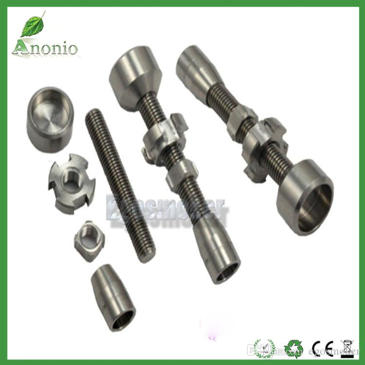 Spiral Titanium Nail With Male and Female Joint 10mm& 14mm&18mm&19mm 6 IN 1 4 IN 1 gr2 nails for Eater Pipe Glass Bong