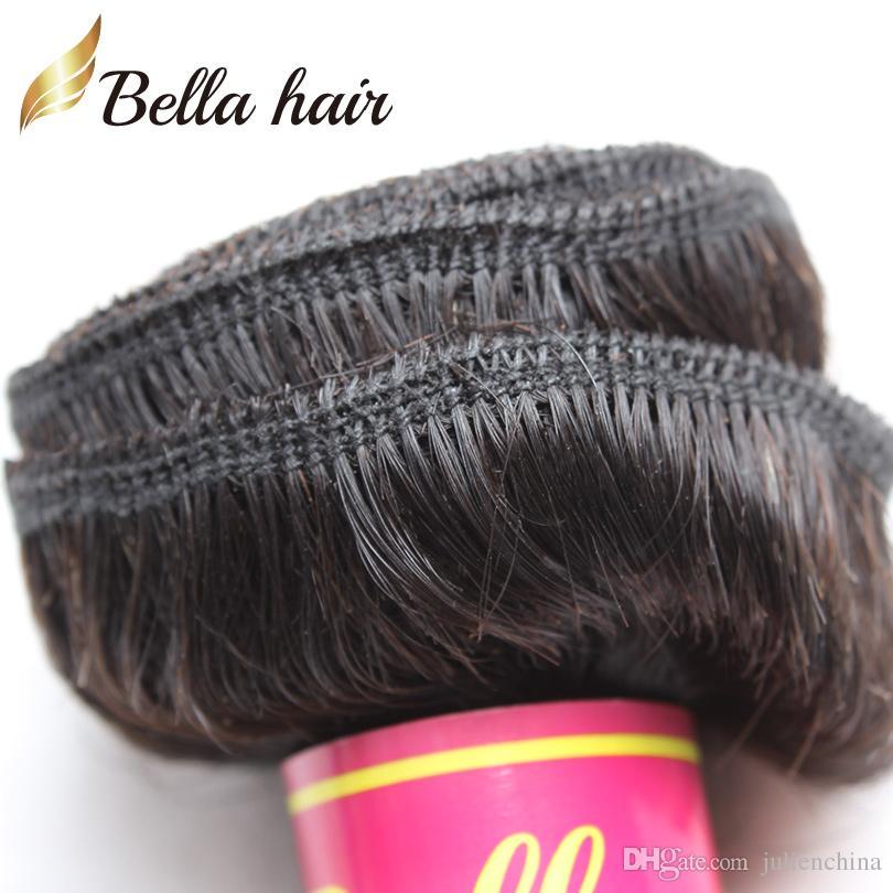 Bella Hair® brasilianische Haarverlängerungen Dyeable natürliches peruanisches Malaysia indisches reines Haar bündelt Körperwelle menschliche Haar-Webart julienchina