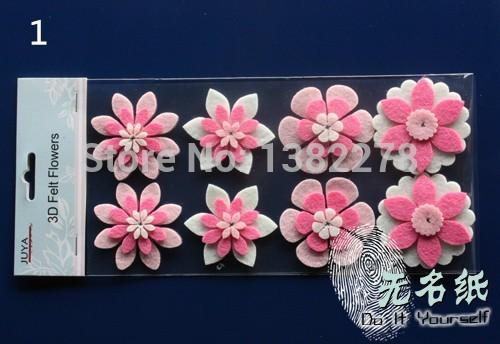 New one scrapbooking flower stickers handmade non woven flowers one lot3pcsscrapbooking flower stickers handmade non woven flowers paper flowers for scrapbook craft diy hobby craft mightylinksfo