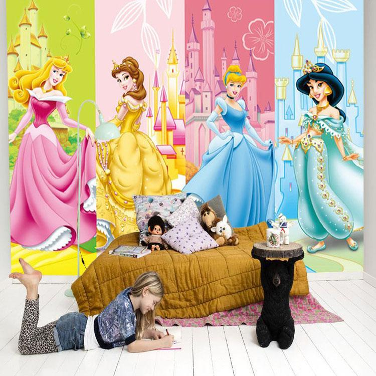 Cartoon Princesses Wallpaper 3d Photo Wallpaper Custom Wall Murals Lovely  Girls Kids Interior Design Bedroom Nursery Room Decor Pink Castle  Widescreen ... Part 35