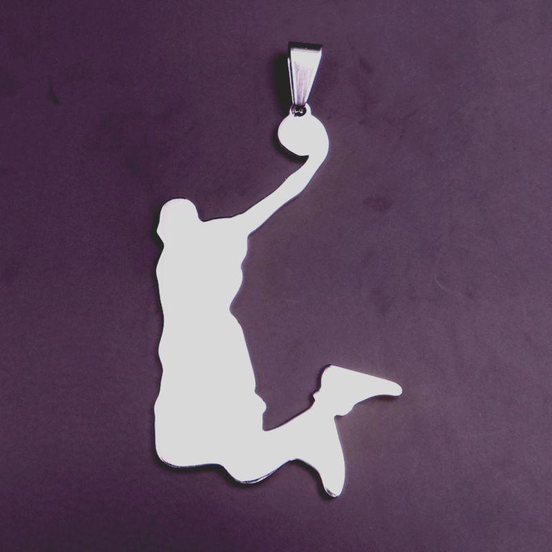 Pingente de aço inoxidável atraente de basquete Aficionados