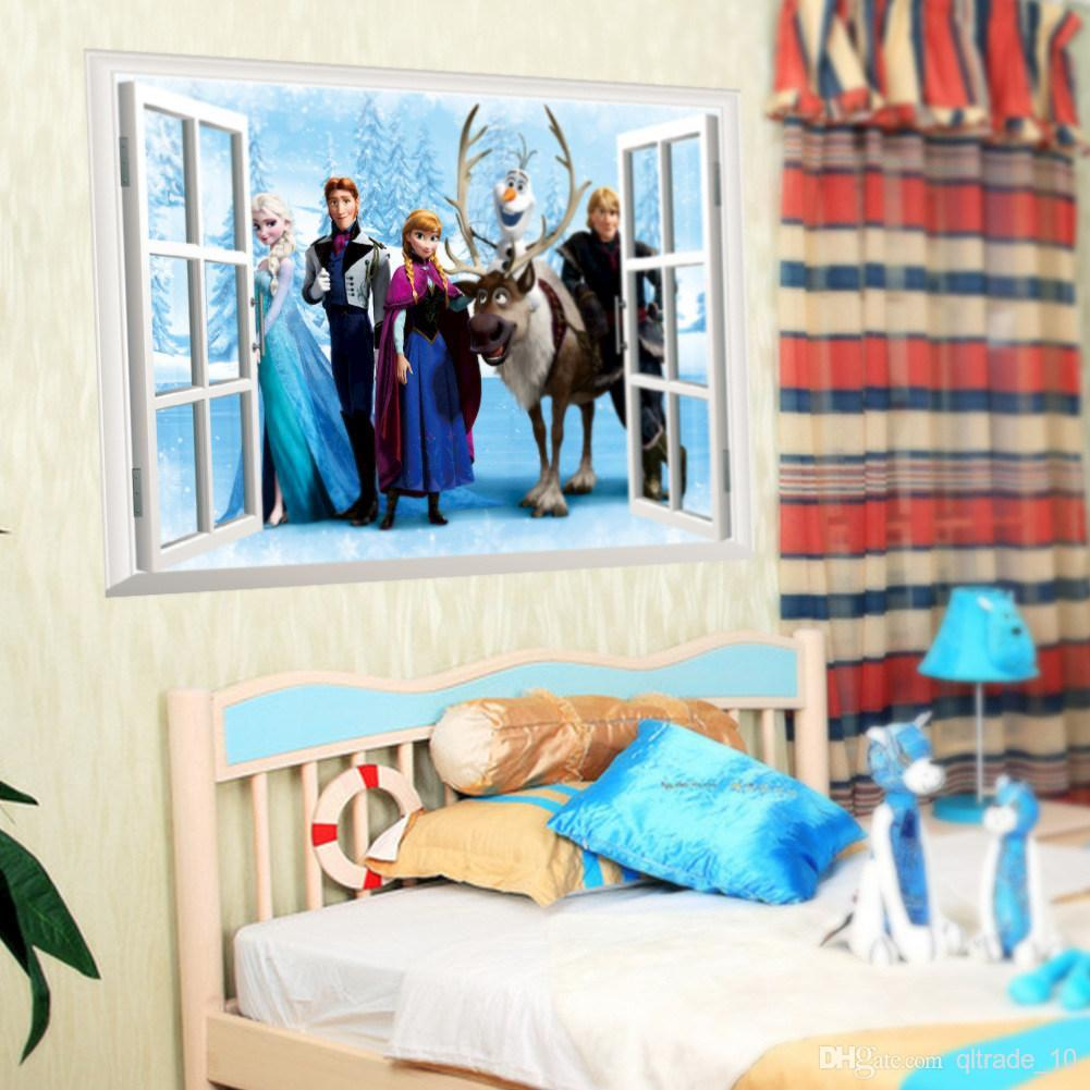 Marvelous Cartoon 3d Window Stickers Frozen Wall Stickers Kids Room Decoration Frozen  Sister Elsa U0026 Anna Wall Decal Stickers Horse Wall Decals Horse Wall Stickers  ... Part 25