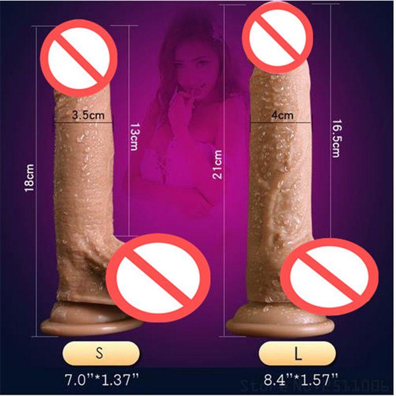 Super realista silicona suave consolador extremo grande realista consolador robusto ventosa pene Dick Dong producto del sexo para mujeres juguetes sexuales