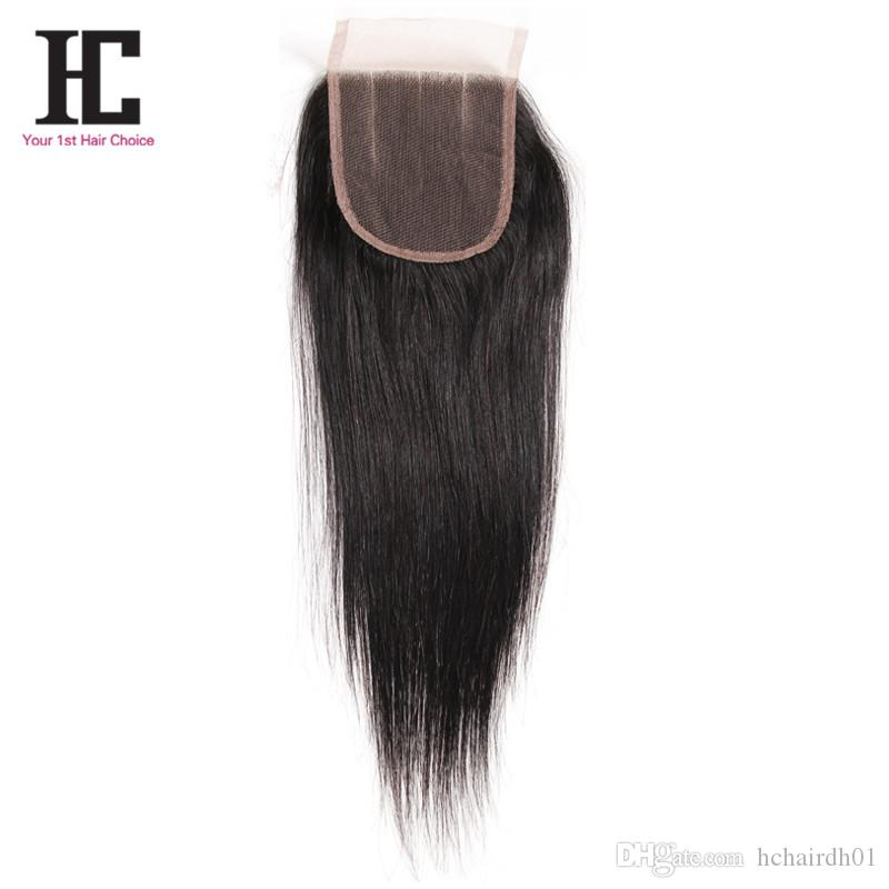 Capelli vergini brasiliani di trama dei capelli diritti 3 pacchi con i capelli diritti vergini di grado 7A della chiusura con il tessuto brasiliano dei capelli della chiusura