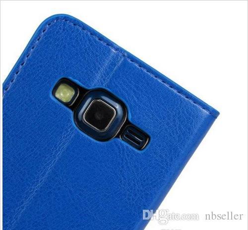 Samsung Galaxy Express cavallo 2 G3815 Pazzo Pazzo Retro casi raccoglitore del sacchetto del cuoio della carta di credito stand copertura della pelle titolare