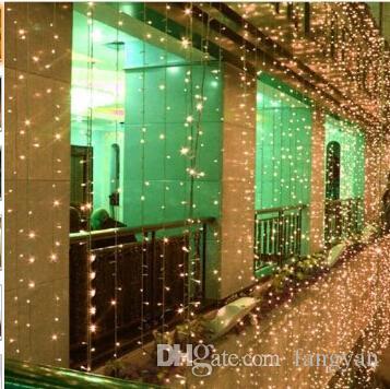 10 MX3M / 10X4M / LED Gordijn String Lampen Garland Kerstversiering voor Trouwkamer Vakantiehuis Tuin Sprookjes Buiten
