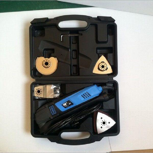 Darmowa wysyłka wielofunkcyjne piły oscylujące, Deluxe Multi-Tool Kit, z 37 Akcesoria Storage Case.DeAS dla DIY Home Renowacja Praca!