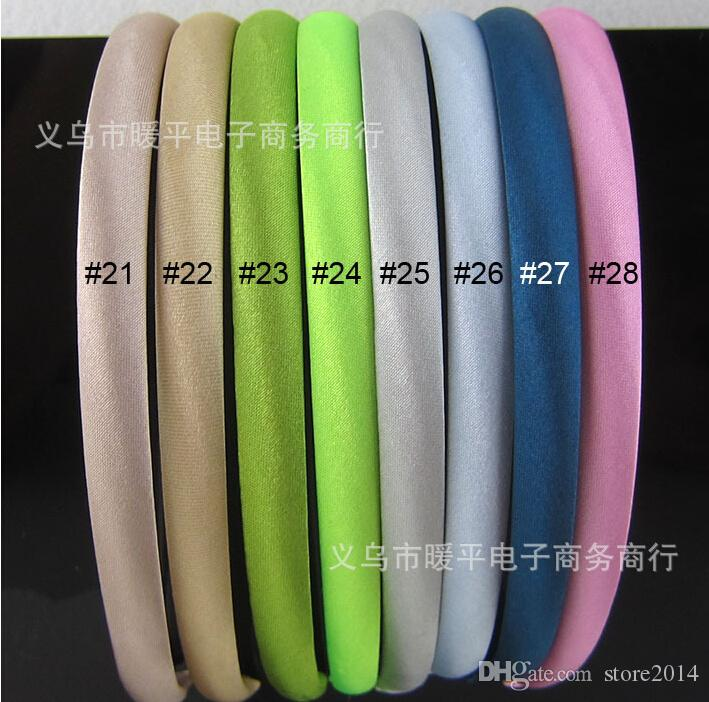 2015 Yeni Şeker bantlar Saten Saç Sopa Çocuk Şapkalar kızlar saç bandı 28 renkler seçebilirsiniz