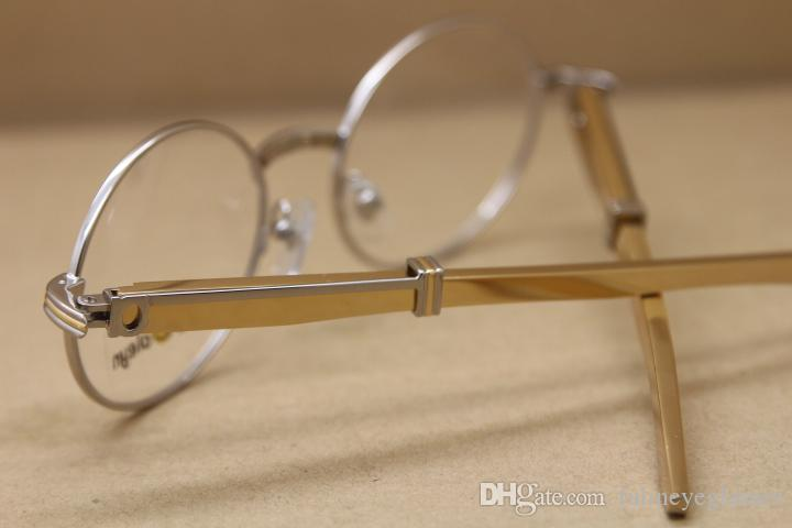 HOT 7550178 스테인레스 스틸 안경 남성 무료 배송 안경 골드 스테인레스 스틸 유리 크기를 운전 안경 야외 : 55-22-140mm