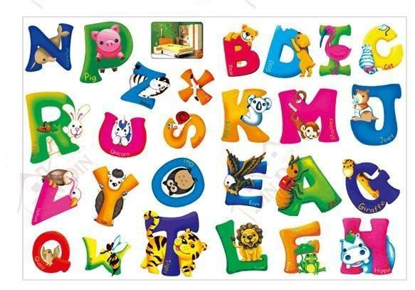 Decorative Pvc Alphabet Wall Stickers,Children Room Wall Decal,Cartoon  Letters Sticker Black Wall Stickers For Bedrooms Boy Wall Decals From  Agung, ...