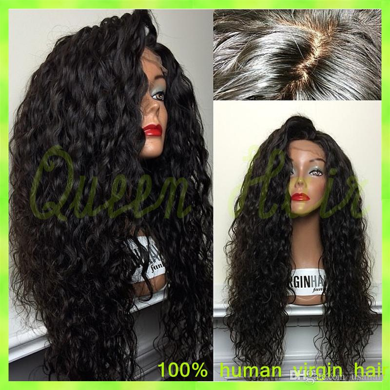 Glueless Full Lace Human Hair Wigs Brazilian Virgin Hair Afro Kinky Curly Lace Front Wig 130% Density 6A Grade For Black Women