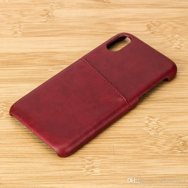 hot sale cell phone case vintage color ultra thin card holder leather wallet back cover case for iphone x 7 8 plus
