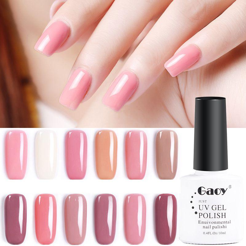 High Quality Nude Color Nail Gel Solid Color Nail Polish 10ml Led Uv ...