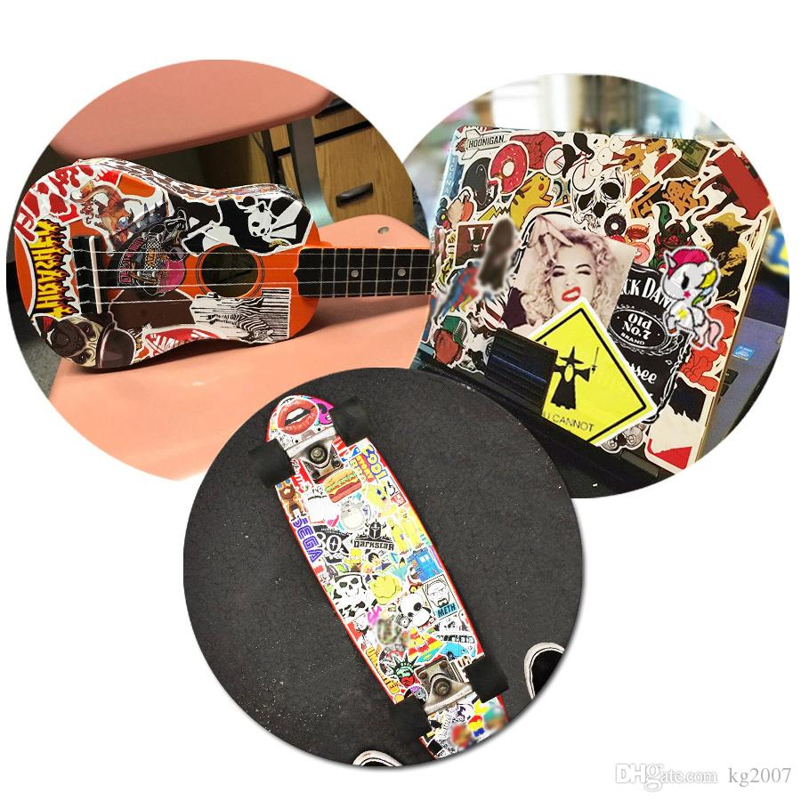 Black &White Car Stickers Poster Wall Blackboard Stickers for Guitars House Laptop Skateboard Luggage Bike DIY Cool Waterproof Sticker