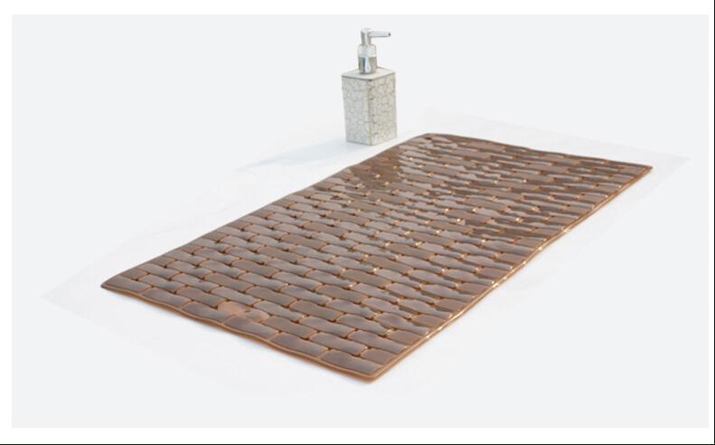 2016 Yeni Masaj fonksiyonel PVC banyo paspasları boyutu 39 * 69 cm nemli yerleşimler masaj paspaslar renkli banyo vantuz ile FHD04 deldi güvenli ped