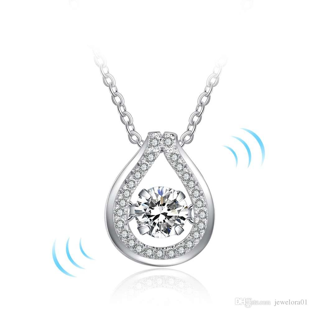 Wholesale 925 sterling silver drop pendants necklaces charm cz wholesale 925 sterling silver drop pendants necklaces charm cz gemstone necklaces womens dancing diamond necklace stone jewelry butterfly pendant necklace mozeypictures Choice Image