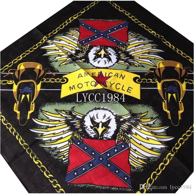 Wholesale American Motorcycle bandana confederate rebel flag bandanas civil war battle bandana headwrap