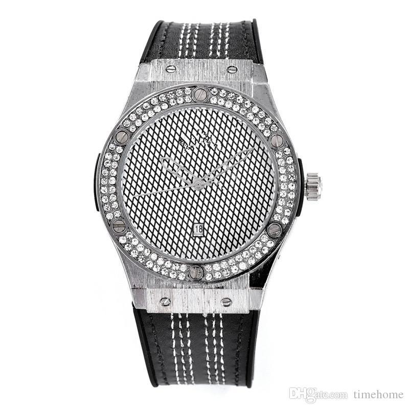 Crystal Inlay Luxury Brand Women's Fashion Wristwatch Grid Surface Quartz Movement Best Gift Clock.