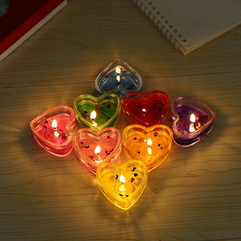 8pcs cheap wedding candle favors valentines day star heart candles birthday wedding supplies heart shaped candles home decoration candle
