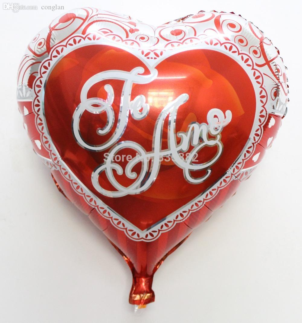 wholesale 18inch i love you heart foil balloons wedding decoration