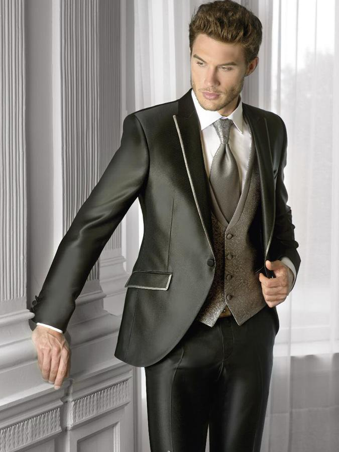 New Silver Gray Wedding Suits For Men Morning Tuxedos