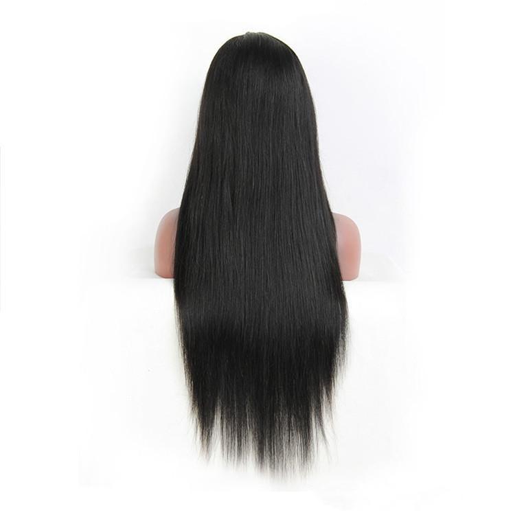 Glueless natürliche Haarstrich-Menschenhaar-Perücke 1B schwarze natürliche Farbe gerade volle Spitzeperücken für den kleinen Kopf, der mit hitzebeständigem natürlich schaut