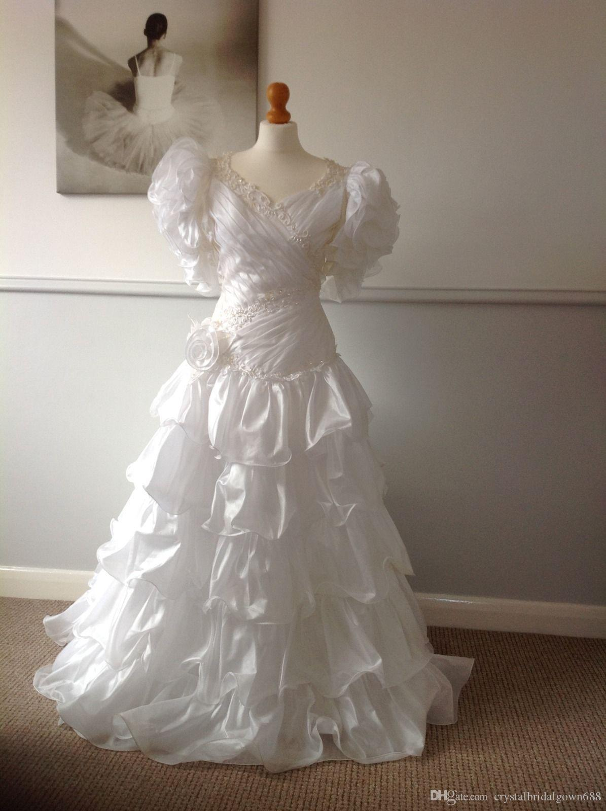 Discount White Spanish Style Wedding Dress Bridal Gown Custom Size