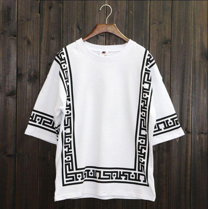 Ktz Half Sleeve Baseball Hip Hop T Shirt Religion Geometric ...