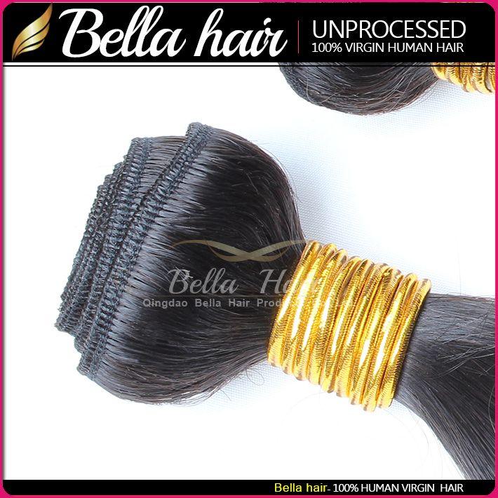 Grade 9A 100% tessuto brasiliano dei capelli 10 ~ 24 pollici dell'onda del corpo dei capelli umani tesse / naturale Nero Colore dei capelli brasiliana Bundles