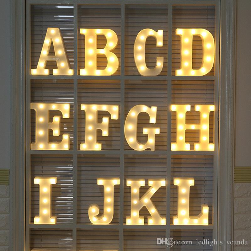 2019 Led Marquee Letter Lights 3d Diy Alphabet Light Up