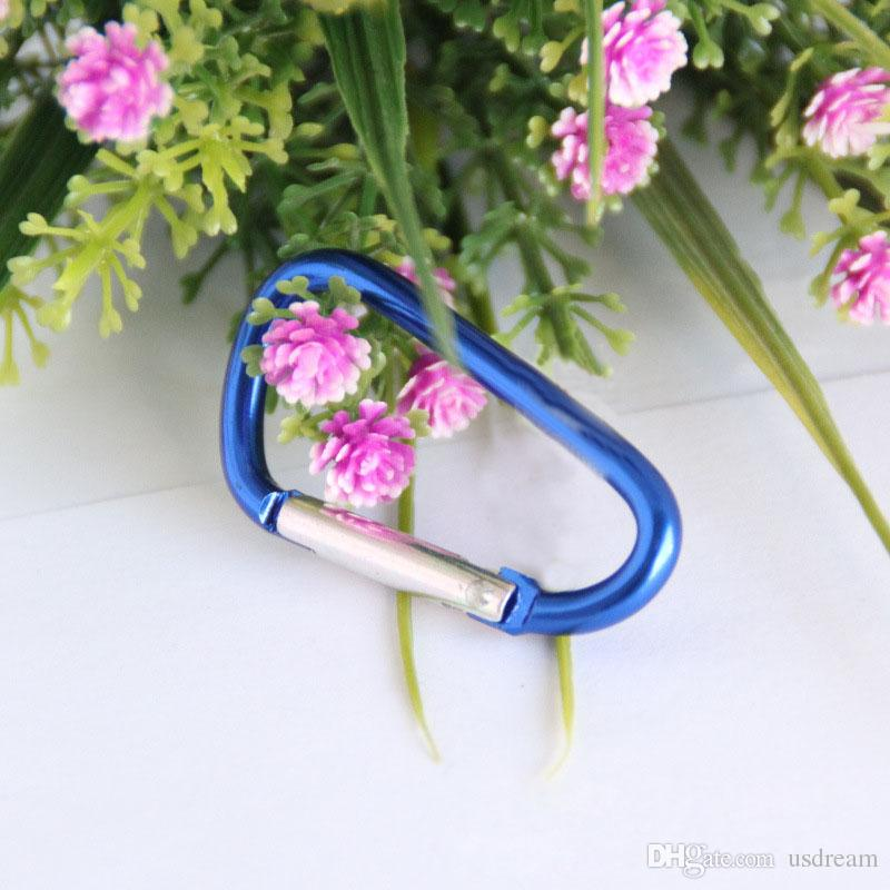 5 # Küçük çok amaçlı mini karabina Alüminyum quickdraw Tırmanma Carabiners Açık Dişli Tırmanma Kanca fit Açık Spor ucuz 250001