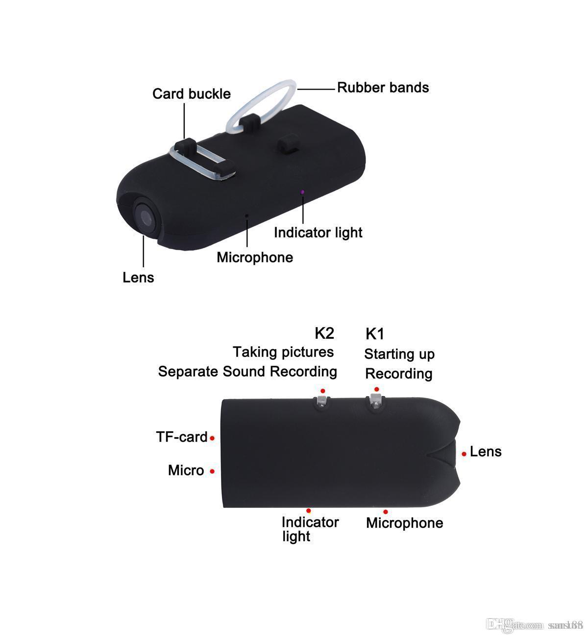 Compre 10 / Gafas Ocultas Portátiles Hd 720p Marco Digital De ...