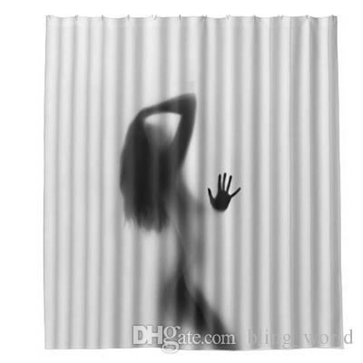 2019 Sexy Women Bathroom Curtain Lady Shadow Shower Waterproof Curtains Partition Home Decoration YFA224 From Bling World