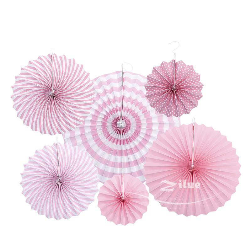 Colorful wheel Tissue Paper fans Flowers balls lanterns Party Decor Craft For Bar Birthday Party Wedding Decoration