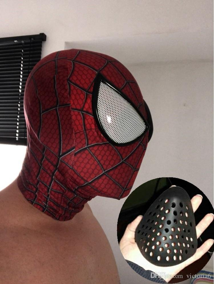2018 new Spiderman Faceshell Spider-man Mask Half Faceshell Mini Soft Non-Toxic Rubber spiderman props for spiderman costume